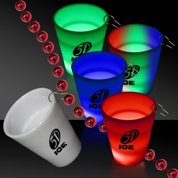 custom neon LED light up glow shot glass