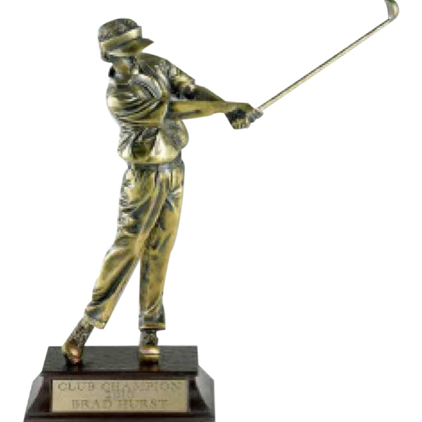 custom golfer trophy